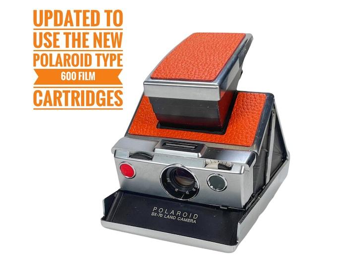SX70 Model 1 - Rebuild, New Textured Orange Skins, Updated to use 600 Type film cartridges
