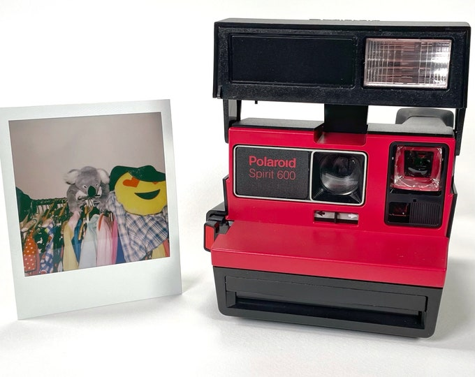 Polaroid Original Red 600 Spirit Camera - Tested, Repaired, Cleaned, now ready for fun