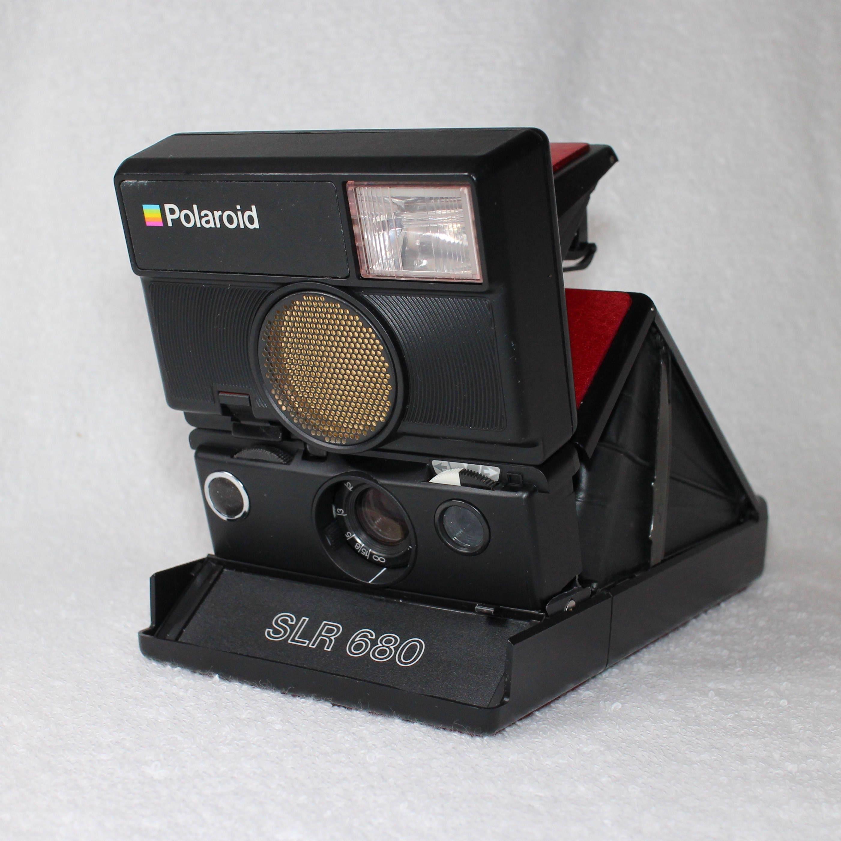 Rebuilt Red skinned Polaroid SLR 680 Camera 3509921969