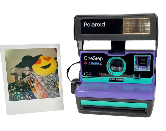 Purple & Retro Green Polaroid 600 OneStep - Refreshed, Cleaned, Tested, and Ready For Fun