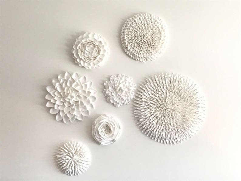 Clay wall flower decoration lightweight handmade ceramic image 0