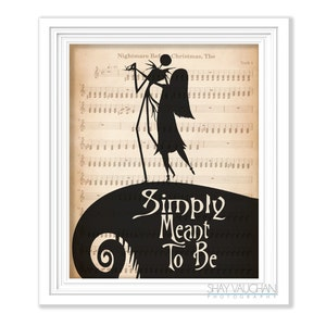 Made to Order Nightmare Before Christmas Wall Art Embroidered Banner on Canvas