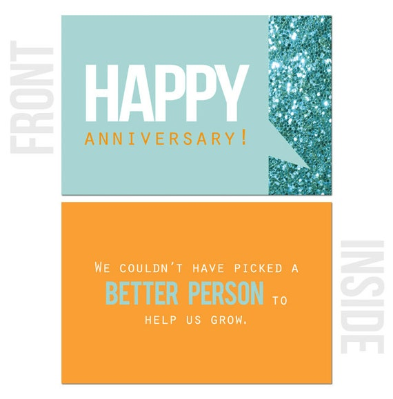 We Couldn/'t Have Picked a Better Person to Help Us Grow 10-Pack Happy Work Anniversary Cards