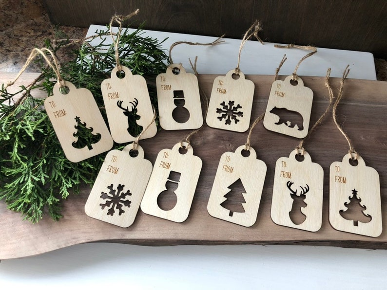 Classic Wooden Gift TagsGift Tag Set