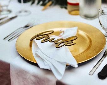 Place Settings, Hand Written Wedding Favors, Wedding Table Centerpiece, Elegant, Modern, Boho Unique Decor, Calligraphy Script Design