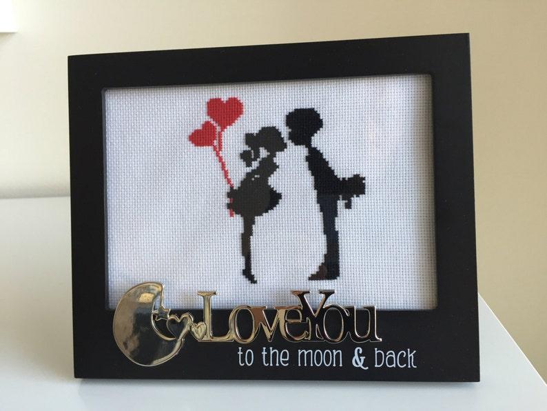 Cross Stitch Couple Birthday Gift For Boyfriend Girlfriend