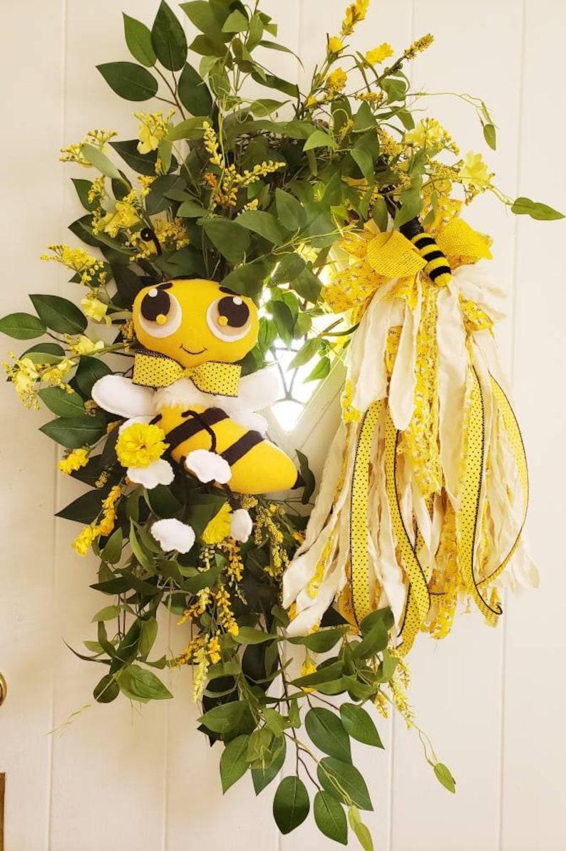 Bee Decor Grapevine Wreath Bee Grapevine Wreath Grapevine Decor Summer Bee Wreath Bee Wreath Door Decor Summer Wreath