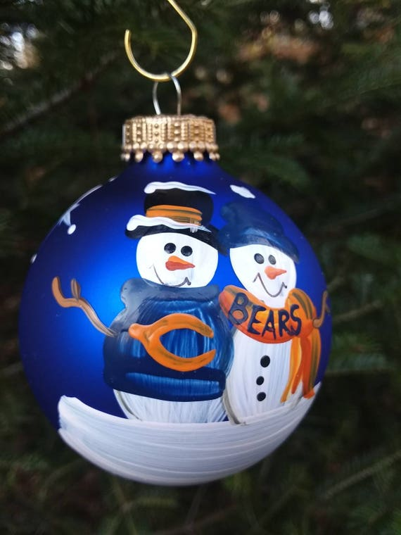 - Chicago Bears Family Personalized Snowman Christmas Ornament Etsy