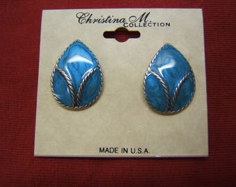 Jewelry Bohemian #60332-1 Indian Style Mother/'s Day Gift Silver Earrings Boho Chic On Sale Tribal Handmade Scandalous Blue