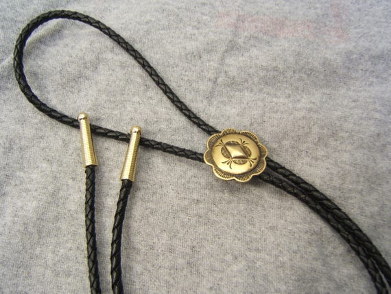 Southwestern Indian Style Satin or Polished Brass Bolo Tie Bola Ties Men/'s Women/'s Wedding Jewelry Necklaces Gift for Her Him #90000