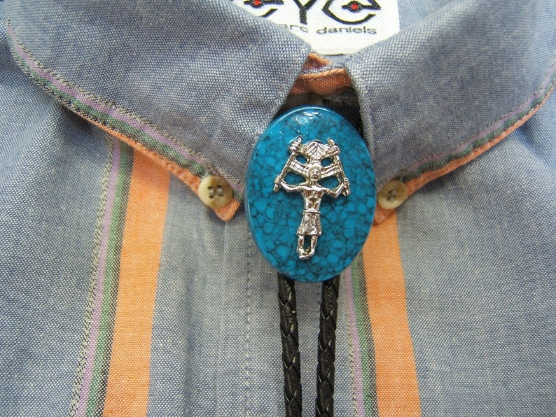 Apparel Accessories Western Cowboy Bolo Ties Vintage Jewelry Heart Turquoise Tribal Needlepoint Bola Tie Indian Rodeo Dance Necktie Native American Latest Fashion
