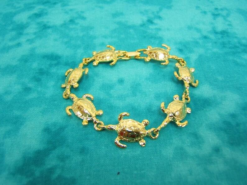 Sea Turtle Bracelet Women Gold Plated NEW