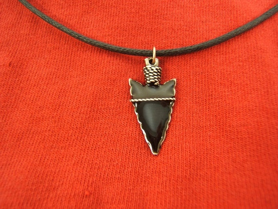 Wife Husband Birthday Gift Arrowhead Silver Necklace Indian