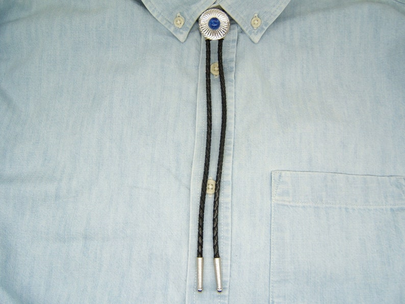 Lapis #80495-1 Easter Gift for Him Her Men Women Southwestern Native American Inspired Bolo Tie Bola Necklaces Neckties Jewelry Silver