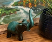 mid century ceramic elephant / good luck / blue mountain pottery / vintage