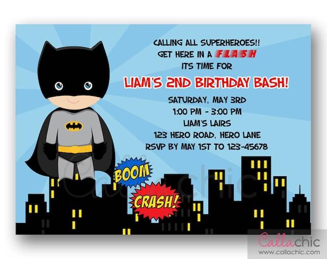Batman Invitation PRINTABLE