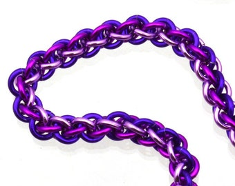 "Purple Kit: Jens Pind Chainmaille Bracelet - Aluminum - Advanced - Instructions sold separately - JPL3 ""Purple Power"" edition"