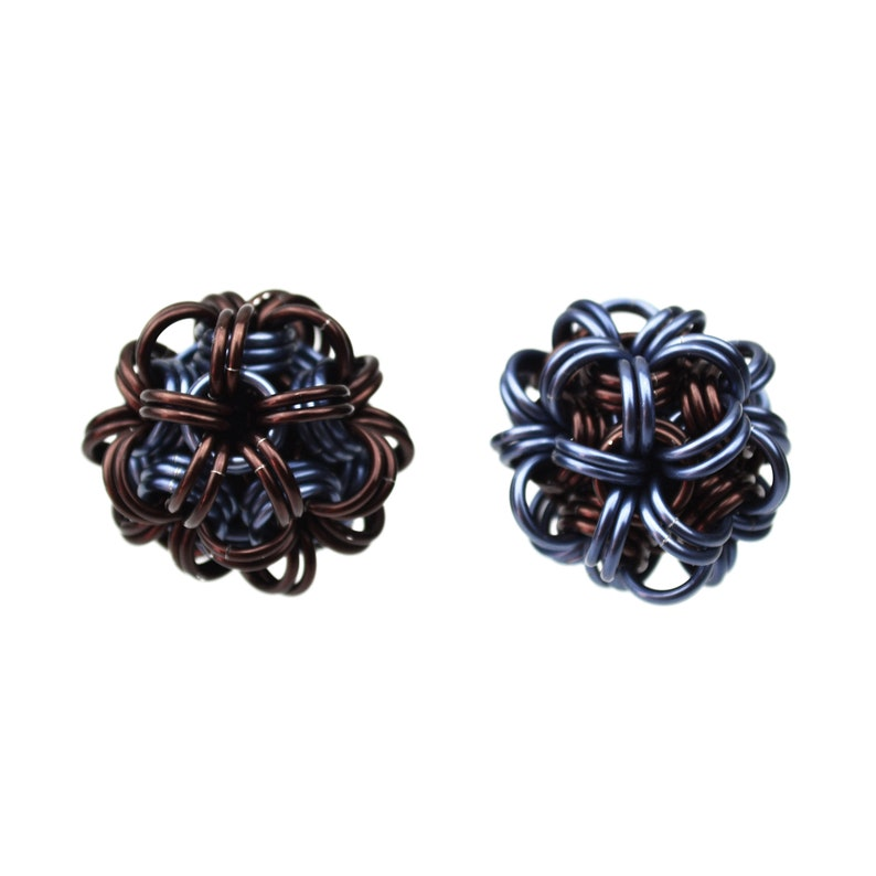 Chainmaille Kit: Dodecahedron  Double Pendant Kit  Caribbean Steampunk