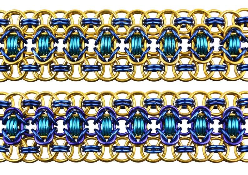 Chainmaille Tutorial - PDF - Colorful Rondo a la Byzantine (Intermediate) -  PDF