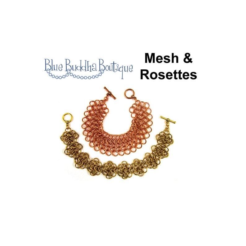 Chainmaille Tutorial European 4-in-1 Mesh & Rosettes image 0