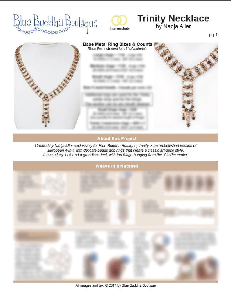 Chainmaille Tutorial Trinity  PDF  Chainmail Weave  image 0
