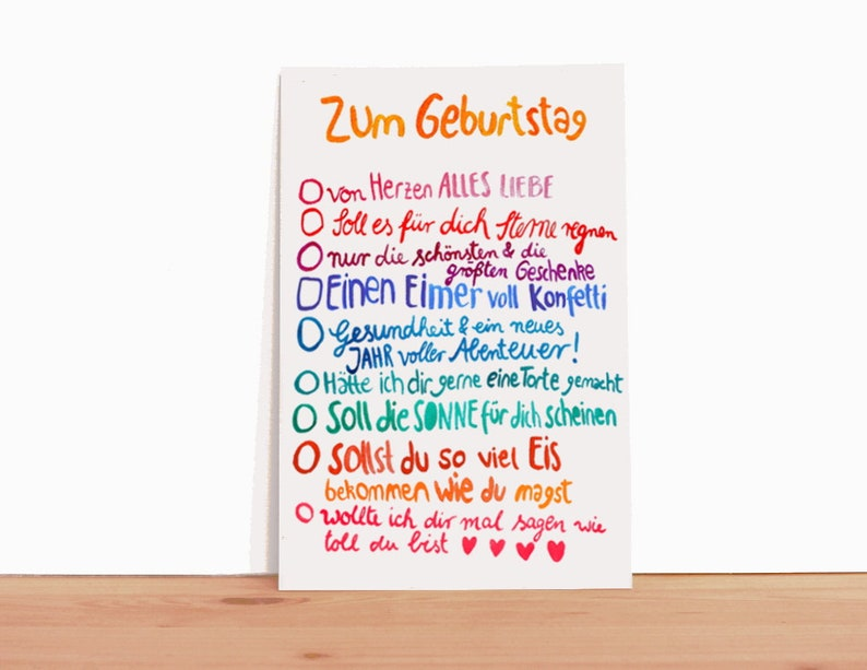 Birthday Card Wishes Text In German