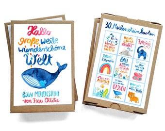 Baby milestone cards, milestones (30 cards) (text in German) by Frau Ottilie