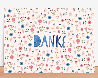 Postcard *Danke* (with text in German)