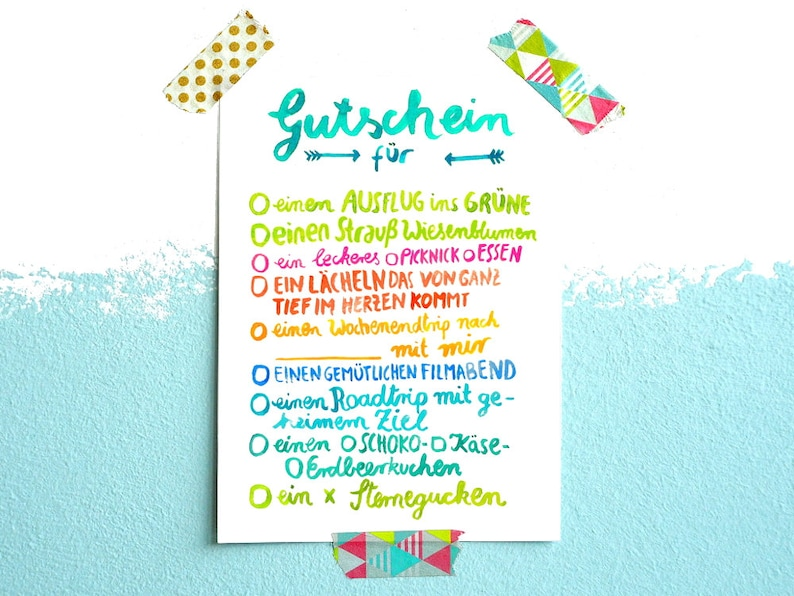 Birthday Card Coupons Text In German
