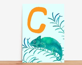 ABC Card *C wie Chamäleon/C is for Chameleon* (german/english)