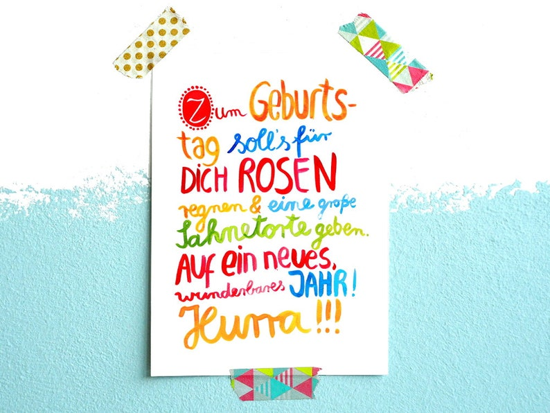 Birthday Card For Your Text In German