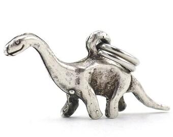 Dinosaur Charm, Animal Charms, Brontosaurus Charm, Charm Bracelet, Sterling Silver Charms, Vintage Charms, Sterling Charms, 925 Charm