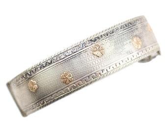 Birks Sterling, Birks Bracelet, Birks Jewelry, Birks Silver Bracelet, Aesthetic Bracelet, Victorian Bracelet, Flower Bracelet, Gold Flowers