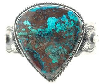 Chimney Butte, Cuff Bracelet, Chimney Butte Cuff, Native American Bracelet, Southwestern Bracelet, Chrysocolla Bracelet, Turquoise Bracelet
