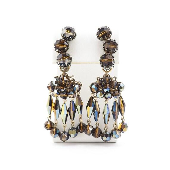 Vintage Earrings, Statement Earrings, Chandelier E