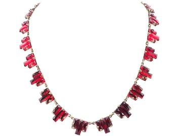 Vauxhall Glass Necklace, Art Deco Necklace, Czech Necklace, Czech Glass Necklace, Antique Necklace, Vintage Necklace, Step Glass Necklace