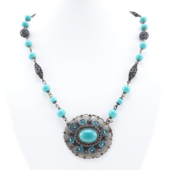 Chinese Export Necklace, Chinese Export Jewelry, V