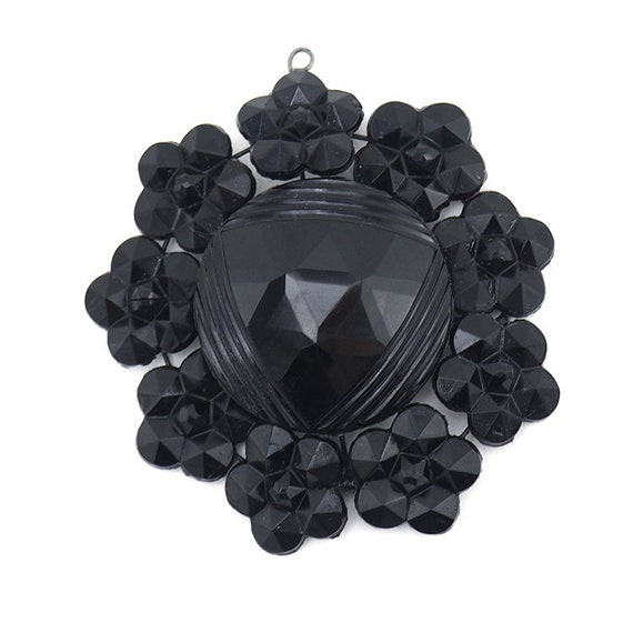 Mourning Jewelry, Victorian Pendant, Victorian Jew