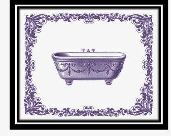 Purple Bathroom Etsy