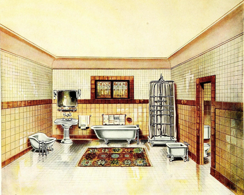 Mustard Yellow Bathroom Wall Decor Vintage Bathroom | Etsy