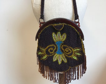 fda22adbb5a74 Vintage Beaded Evening Bag