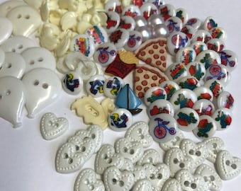 Lots of Vintage Kids Buttons