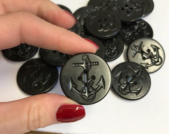 Group (5) Large vintage Anchor Buttons
