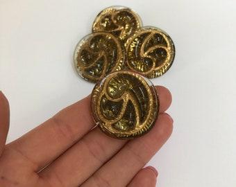 Vintage Glass Bimini Style Buttons