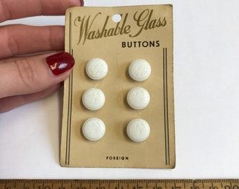 Card Vintage Glass Bird Buttons