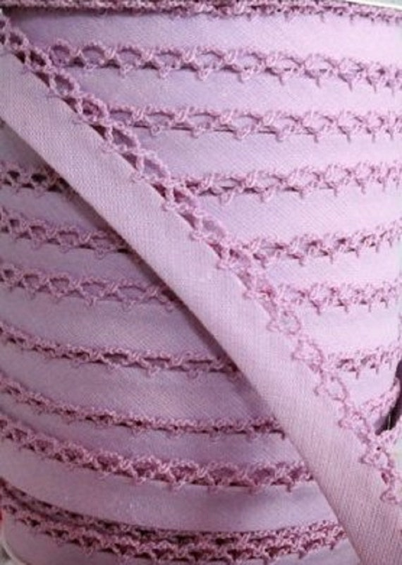 Linen Picot Bias Binding Cotton Fabric Trim Cream