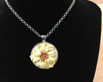 Sunflower Silk Beaded Necklace