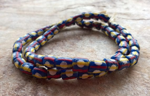 Recycled Cassette Moroccan Beads 23mm Morocco African Multicolor Round Plastic