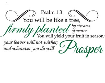 Psalm 1:3   Scripture Wall Quote   You Will Be Like a Tree...
