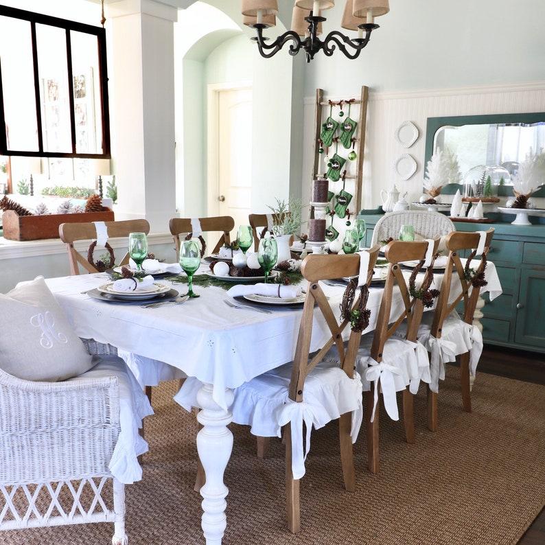 Linen Chair Cover Dining Covers Slipcover Regular